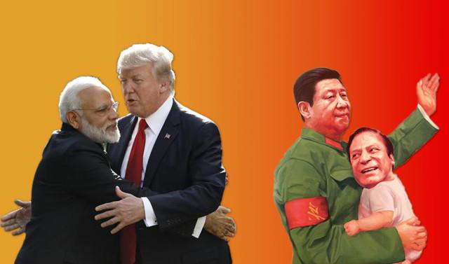 India, USA, China, Pakistan relations