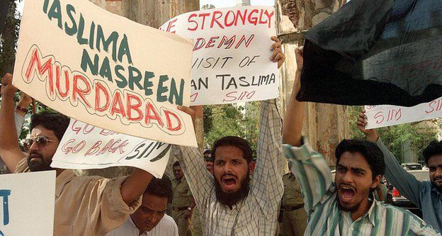 protest against taslima nasreen